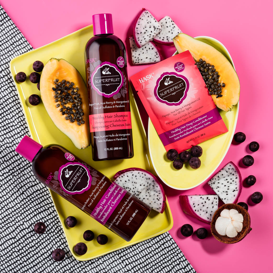 superfruit haircare still life