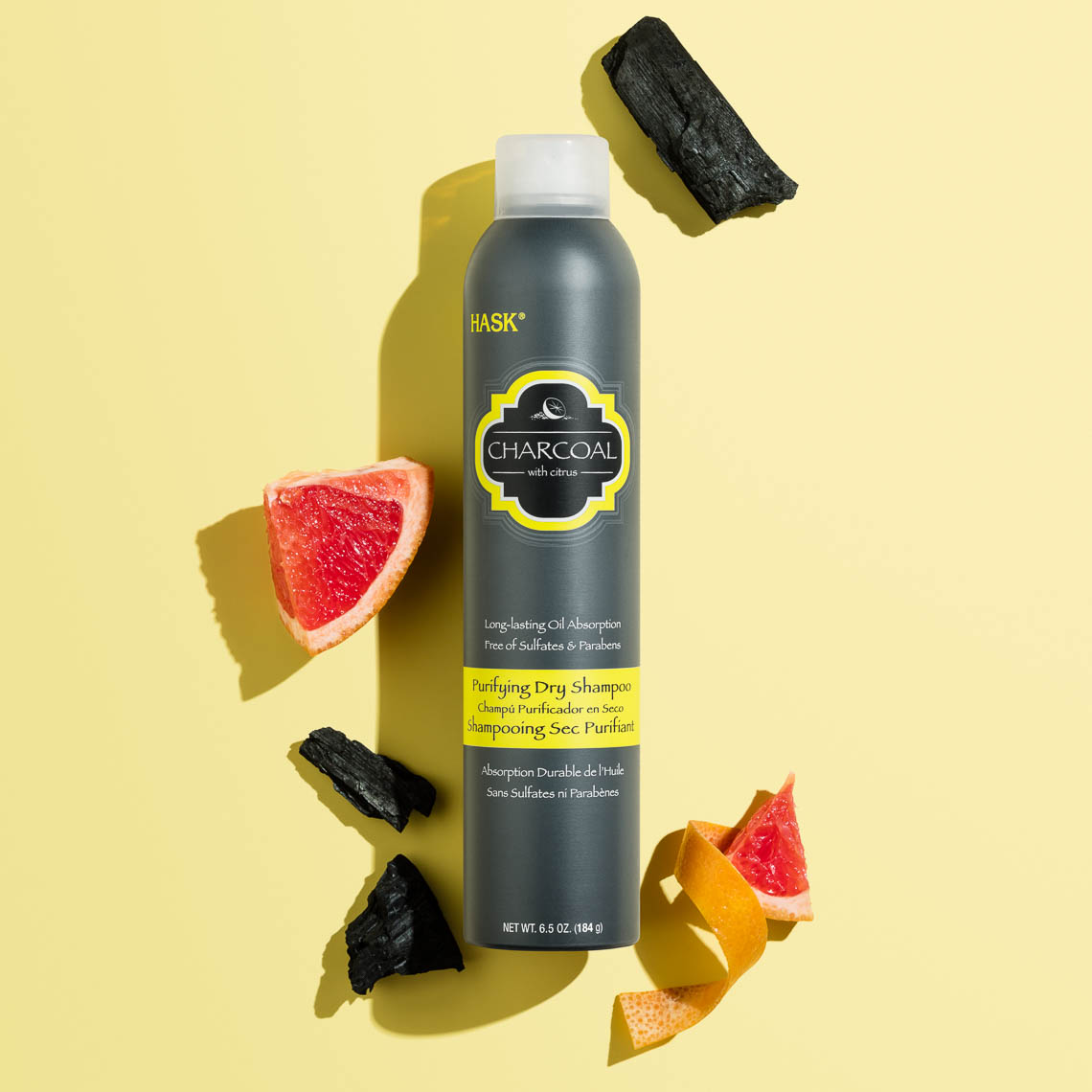 product photographer cosmetics photography charcoal and grapefruit dry shampoo