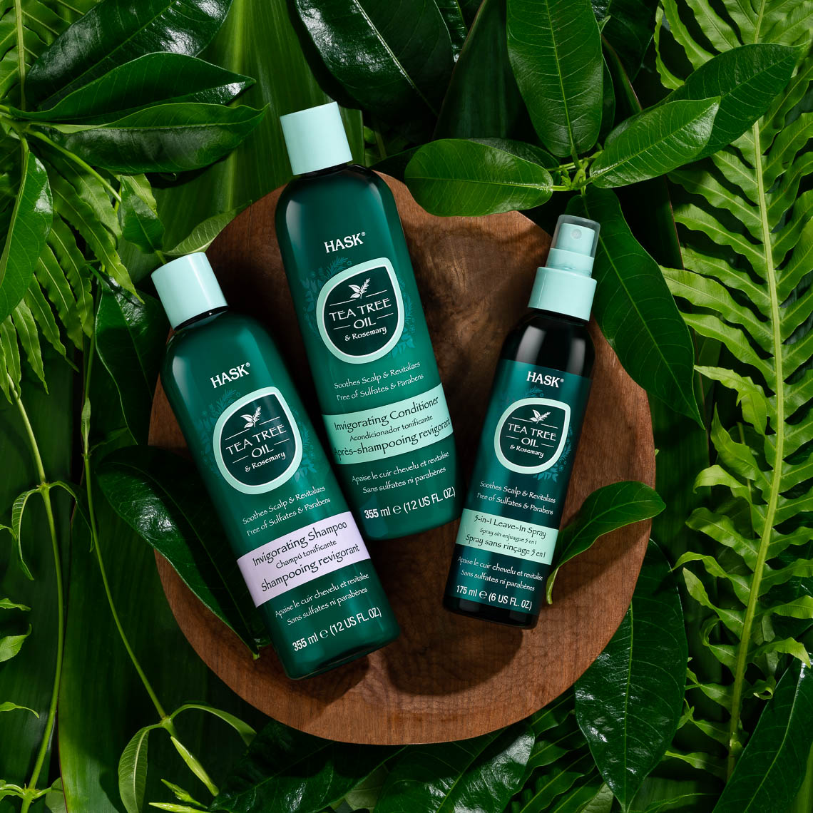 tea tree shampoo still life