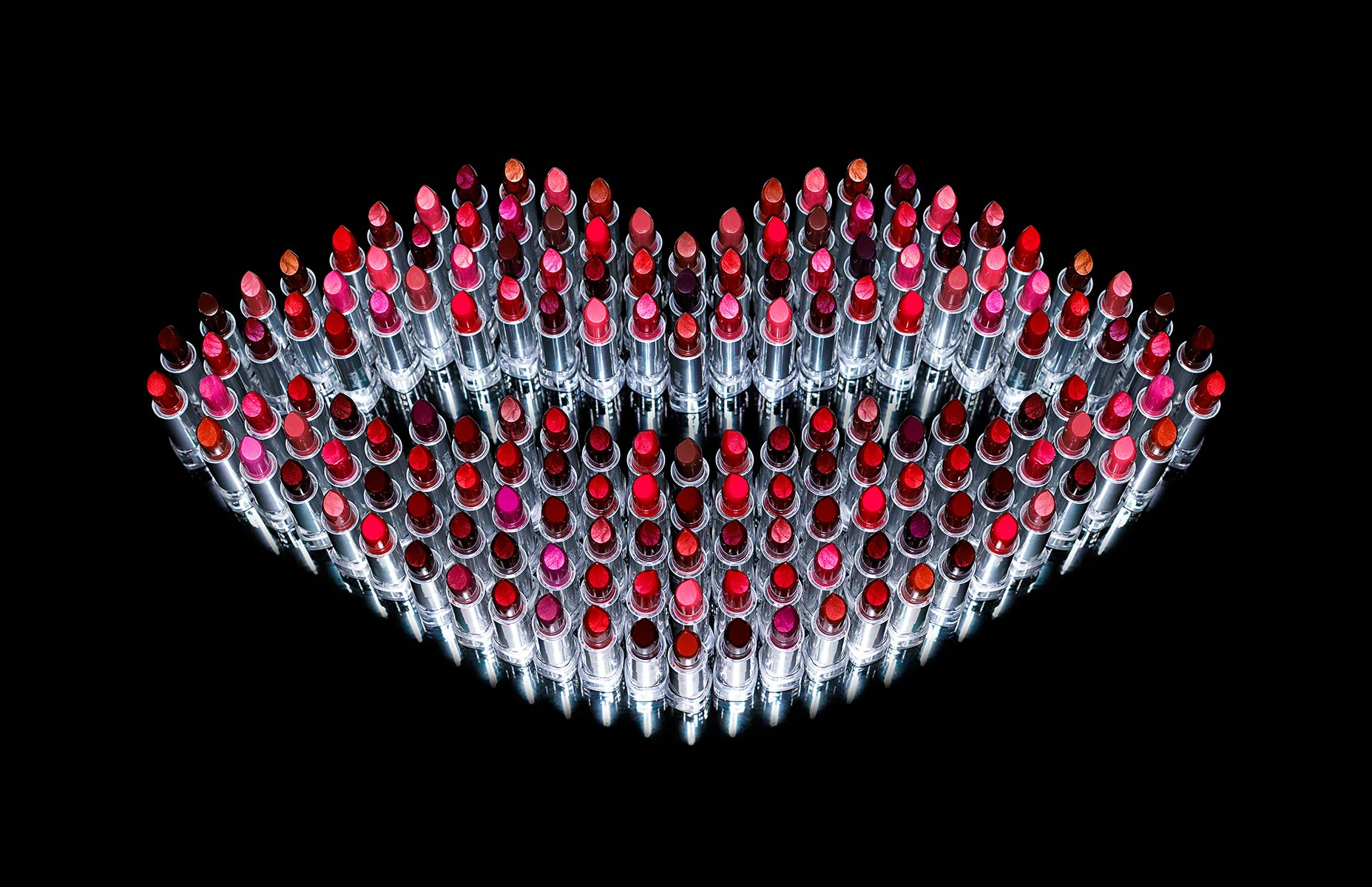 product photographer cosmetics photography lipstick in shape of lip cosmetic photography