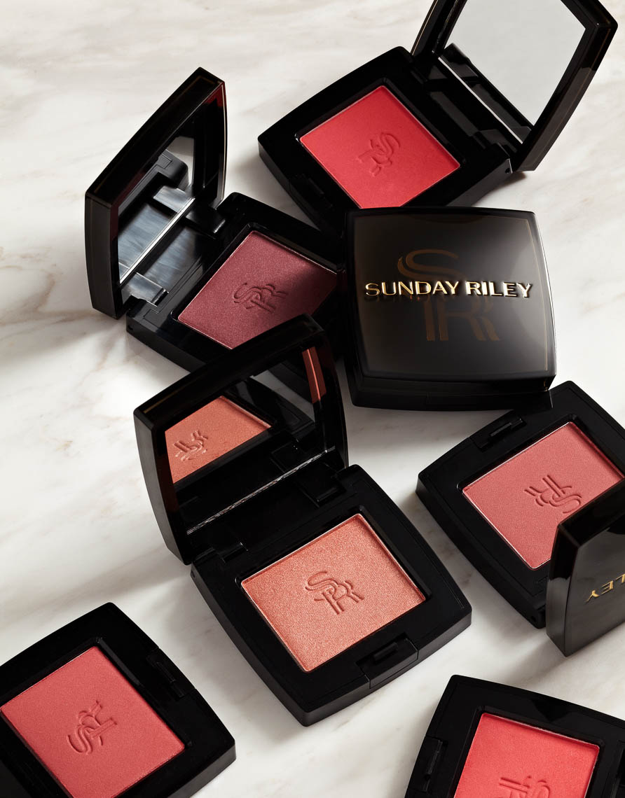 product photographer cosmetics photography sunday riley cosmetics blush