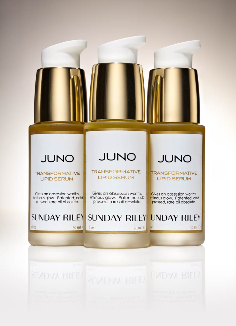 sunday riley juno still life product photography