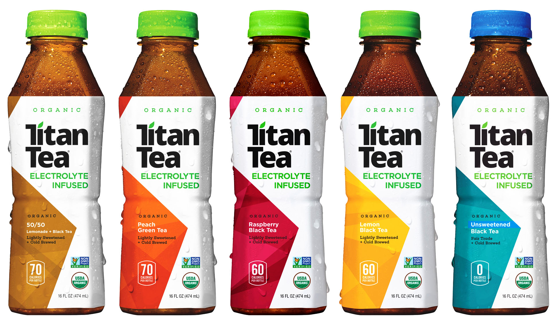 titian tea bottle product photography on white background